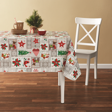 Tablecloth PE with Needle-punched Cotton Cute Animals Square