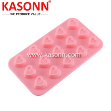 15 Cavity Small Heart Candy Silicone Mold Pan