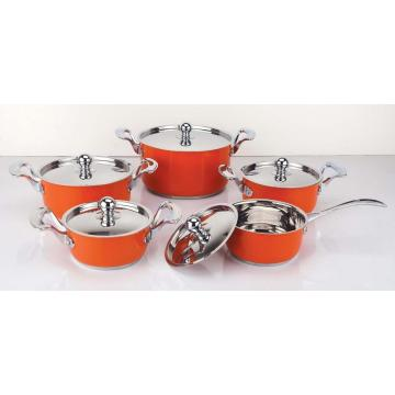 Beautiful Colorful painting 10pcs cookware