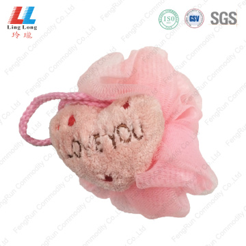 Pink style lovely mesh sponge ball