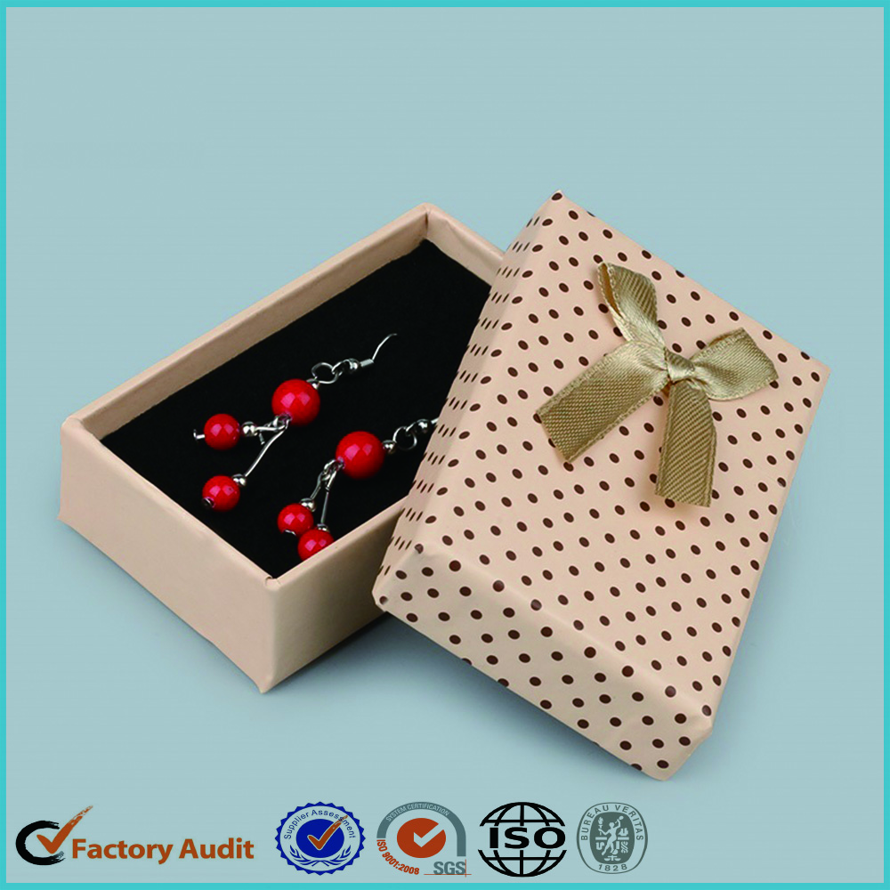 CMYK Printing Jewelry Box Earring Packaging
