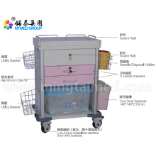 Lockable anesthetic vehicles cart