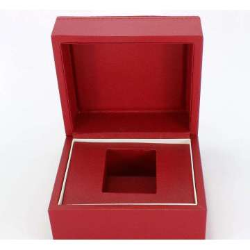 Red Leather Jewelry Gift box