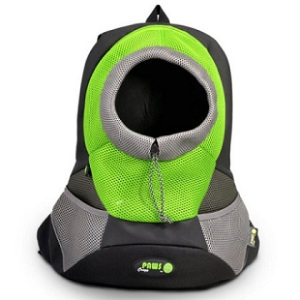 Green Large PVC and Mesh Pet Backpack