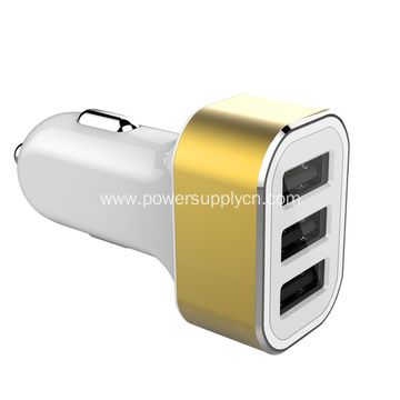 Mult-funtion 5.2A Output 3 USB Car Charger
