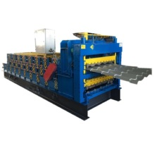 Trapezoidal glazed three layers roll forming machine