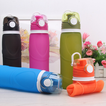 Camping silicone collapsible water bottle
