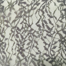 Leaves Pattern Garment Polyester Lace Fabric