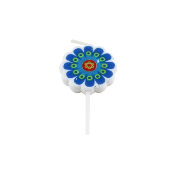Cartoon sun flower shape birthday candle