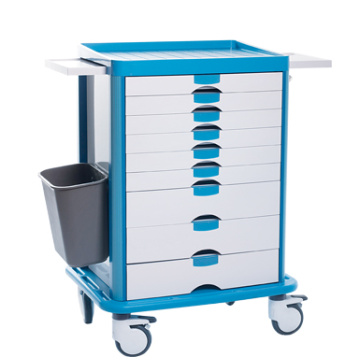 Six drawers ABS drug delivery cart