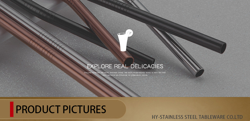 18-8 Stylish Stainless Steel Straw
