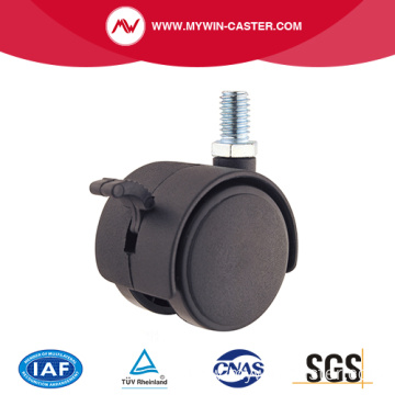 30mm PA Thread Stem Furniture Caster With Brake
