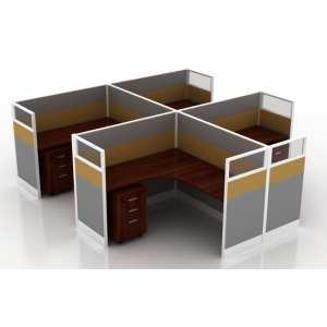 modern 4 person office workstation office table design