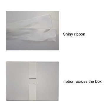 Custom White Ribbon Scarf Gift Box