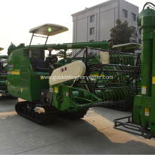Factory selling for Crawler Type Rice Combine Harvester farm equipment self-propelled rice cutting rubber track supply to Uzbekistan Factories