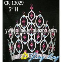 Pink Fashion hair accessories rhinestone crowns and tiaras