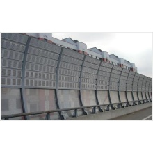 Highway noise barrier metal