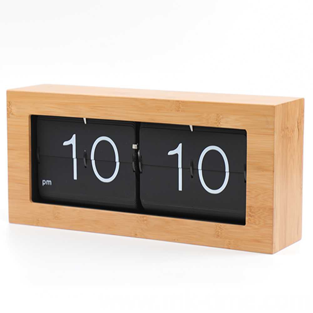 Bamboo Flip Down Clock