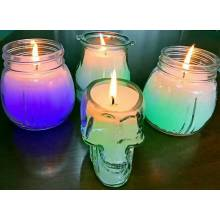 Europe style for for Clear Glass Jar Scented Candles Magic Glass Candle with Color Changing export to India Suppliers