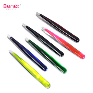 Hot Sale Personalized Epoxy Handle Eyebrow Tweezers