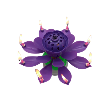 Magic musical rotating birthday candle