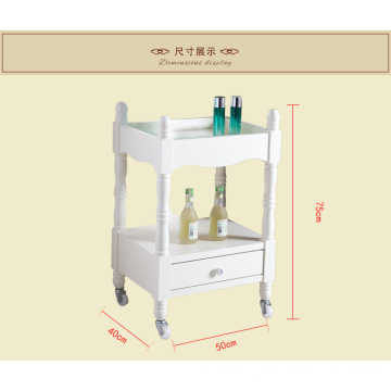 Beauty Salon wooden trolley cart with three layers