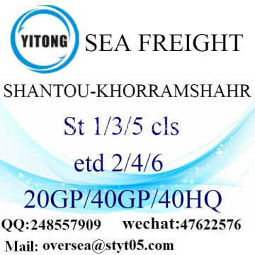 Shantou Port Sea Freight Shipping To Khorramshahr