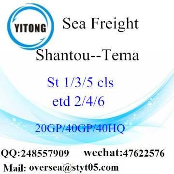 Shantou Port Sea Freight Shipping To Tema