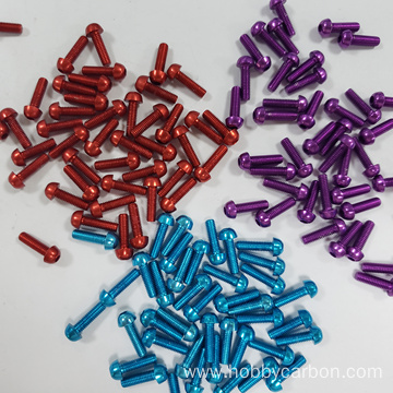 M3X16mm 7075 aluminum button head screws for hexacopter