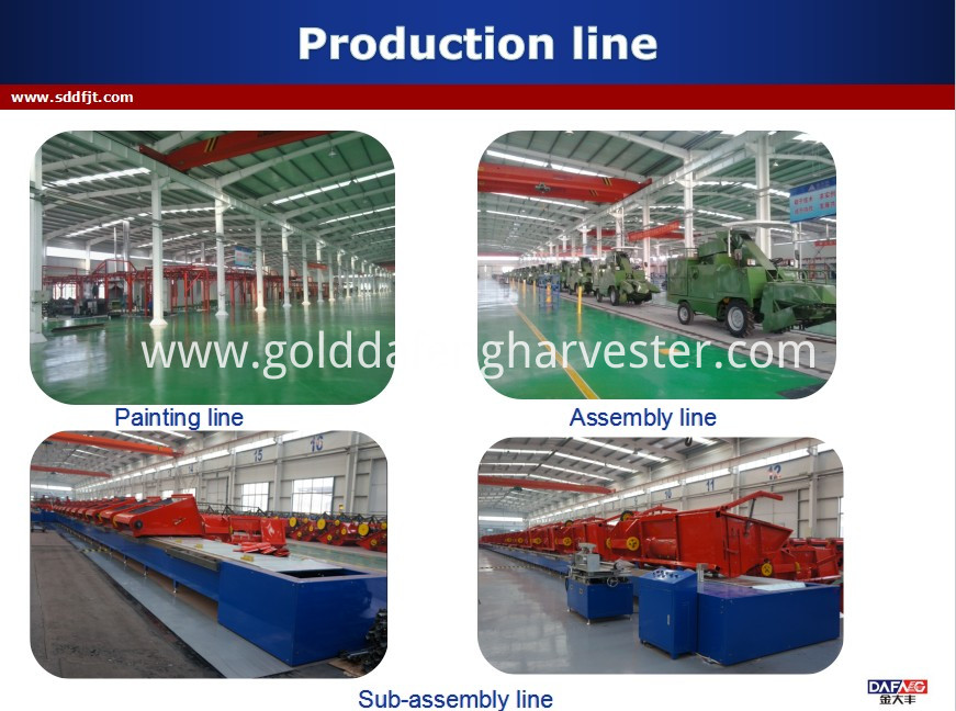 330mm Min.ground clearance combine harvester rice-production line