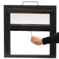 Retractable window with aluminum frame 0935