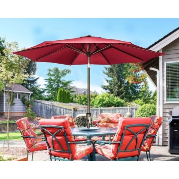 Garden umbrella big size long handle outdoor parasol
