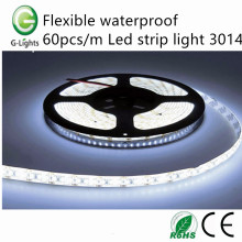 Flexible waterproof 60pcs/m Led strip light 3014