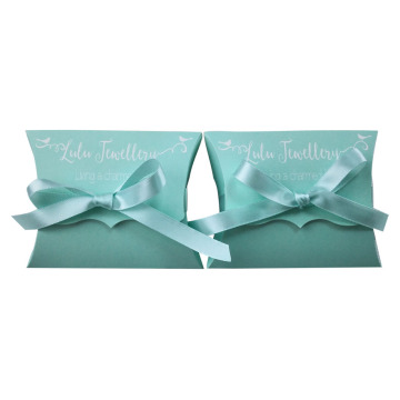 Pillow Boxes White Kraft Paper for Candy