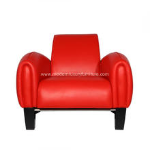 Red Franz Romero Bugatti Leather Lounge Chair