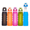 1000ml camping filter silicone water bottles