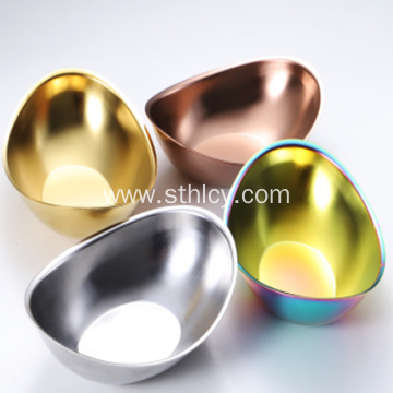 Gold Ingot Stainless Steel Small Bowl