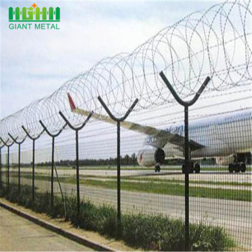 Razor Wire Security Welded Airport Perimeter Fence Panels