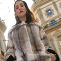 Winter Reversible Fur Cross Women Long Coat