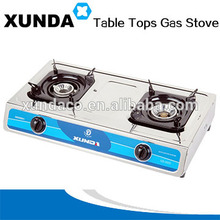 Double Heads Inox Classical Table Gas Cooker