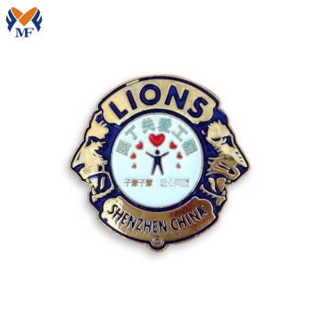 Security custom metal logo enamel pins badge sale