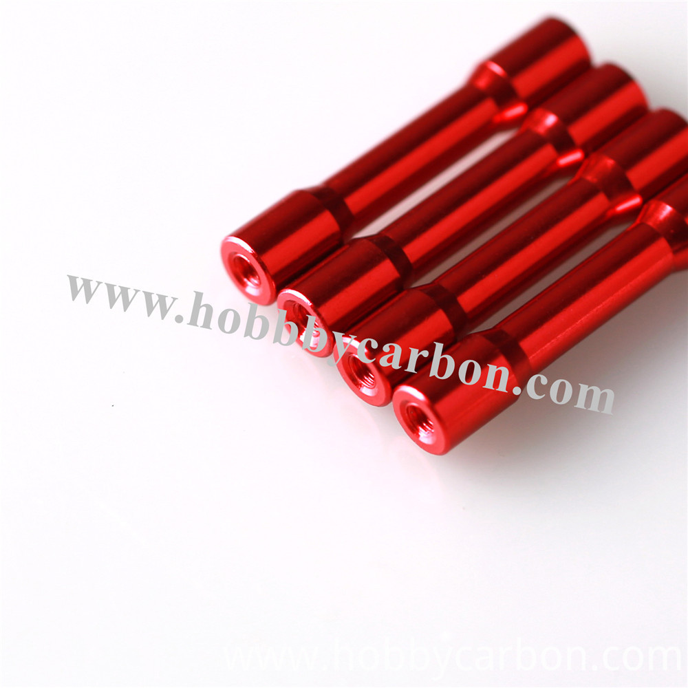 Hexagon Step Red Aluminum Standoffs