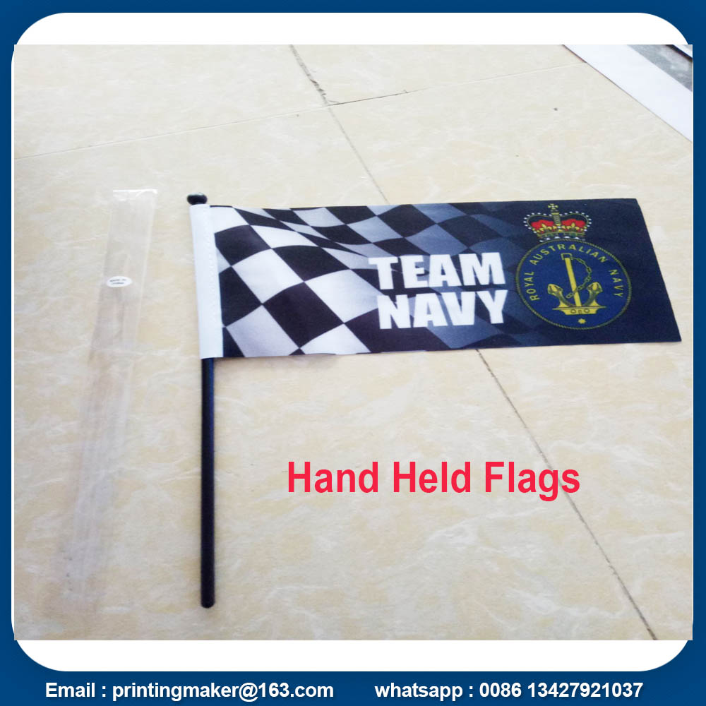 Custom Hand Held Flags Country National Banner Flag