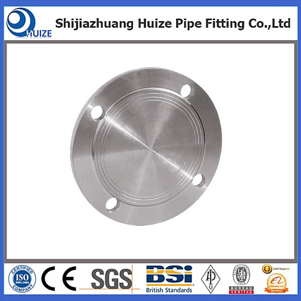 Black 1 pipe blind flange