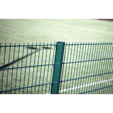 Galvanized twin bar double horizontal wire mesh fence