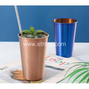 Stainless Steel Straw Coated Titanium Gold Water Cup