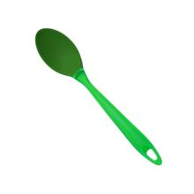 Green Color Handle Cooking Silicone Solid Spoon