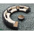 Furniture of rattan big round wicker sofa set