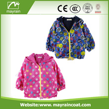 Cartoon PU Coated Waterproof Children Raincoats Rainsuits