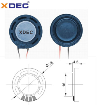 23mm 8ohm 0.5w 1w mylar speaker with wires
